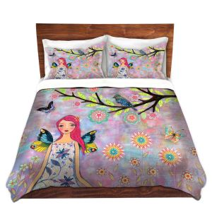 Artistic Duvet Covers and Shams Bedding | Sascalia - Butterfly Fairy