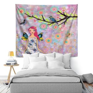 Artistic Wall Tapestry | Sascalia Butterfly Fairy