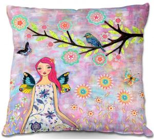 Throw Pillows Decorative Artistic | Sascalia's Butterfly Fairy