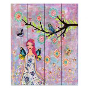 Decorative Wood Plank Wall Art | Sascalia Butterfly Fairy