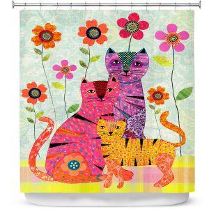 Premium Shower Curtains | Sascalia Cat Family