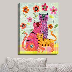 Decorative Canvas Wall Art | Sascalia - Cat Family