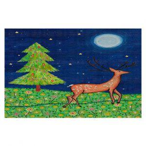 Decorative Floor Coverings | Sascalia - Christmas Scene | Christmas Tree Holidays Raindeer Animals Nature