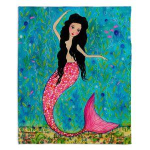 Artistic Sherpa Pile Blankets | Sascalia Dancing Mermaid