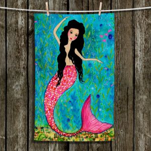 Unique Hanging Tea Towels | Sascalia - Dancing Mermaid | Mermaids Girls Make Believe