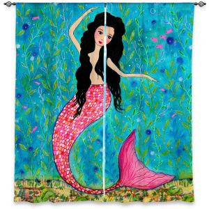 Decorative Window Treatments | Sascalia Dancing Mermaid