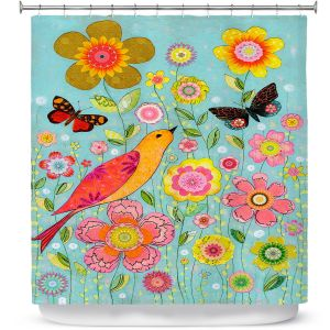 Unique Shower Curtain from DiaNoche Designs by Sascalia - Flower Meadow