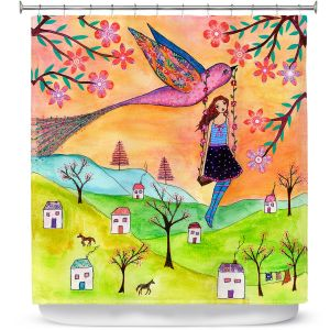 Premium Shower Curtains | Sascalia Fly Me Home