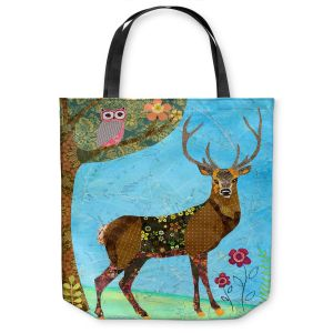 Unique Shoulder Bag Tote Bags | Sascalia Forest Stag And Owl