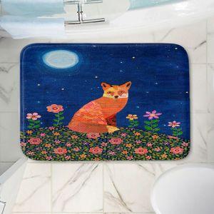 Decorative Bathroom Mats | Sascalia - Fox on Hill | Fox Animals Flowers Childlike