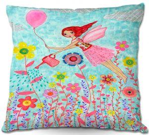 Throw Pillows Decorative Artistic   Sascalia Garden Fairy