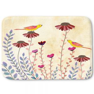 Decorative Bathroom Mats | Sascalia - Good Morning | Birds Flowers Animals