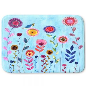 Decorative Bathroom Mats | Sascalia - Happy Morning | Flower floral pattern nature