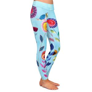 Casual Comfortable Leggings | Sascalia - Happy Morning | Flower floral pattern nature