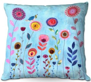 Throw Pillows Decorative Artistic | Sascalia - Happy Morning | Flower floral pattern nature