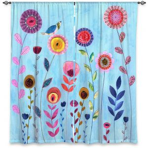 Decorative Window Treatments | Sascalia - Happy Morning | Flower floral pattern nature