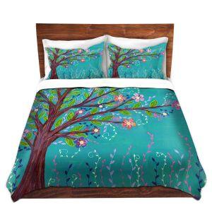 Artistic Duvet Covers and Shams Bedding | Sascalia - Happy Tree