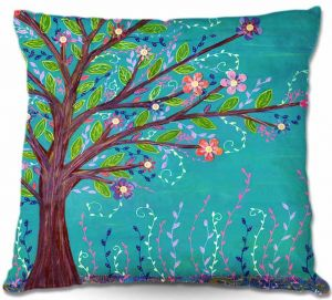 Throw Pillows Decorative Artistic | Sascalia Happy Tree