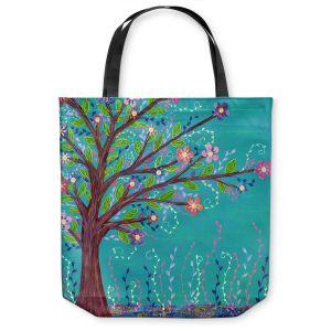 Unique Shoulder Bag Tote Bags | Sascalia Happy Tree