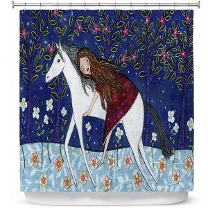 Premium Shower Curtains | Sascalia Horse Dreamer