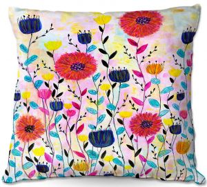 Throw Pillows Decorative Artistic | Sascalia - Joyful | Flowers Nature Garden