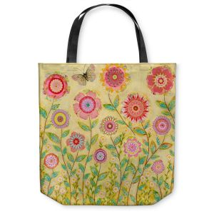Unique Shoulder Bag Tote Bags | Sascalia July Flowers Butterfly