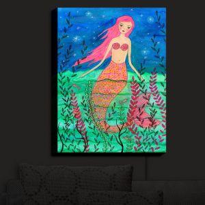 Nightlight Sconce Canvas Light | Sascalia - June Mermaid
