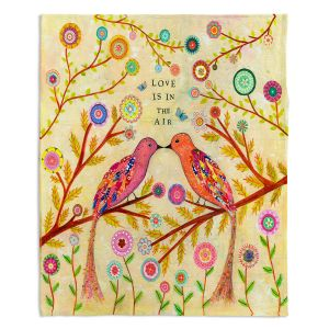 Decorative Fleece Throw Blankets | Sascalia - Love Birds
