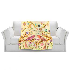 Artistic Sherpa Pile Blankets | Sascalia Love Birds