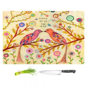 Artistic Kitchen Bar Cutting Boards | Sascalia - Love Birds