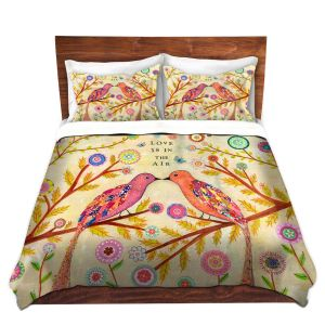 Artistic Duvet Covers and Shams Bedding | Sascalia - Love Birds