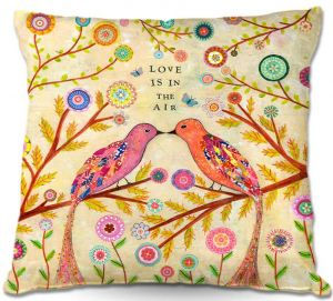 Decorative Outdoor Patio Pillow Cushion | Sascalia - Love Birds