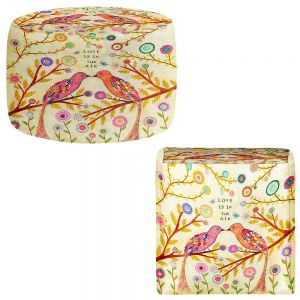 Round and Square Ottoman Foot Stools | Sascalia - Love Birds