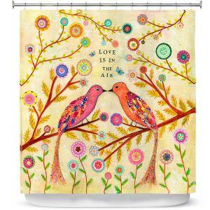 Premium Shower Curtains | Sascalia Love Birds