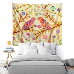 Artistic Wall Tapestry | Sascalia Love Birds