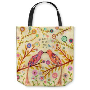 Unique Shoulder Bag Tote Bags | Sascalia Love Birds