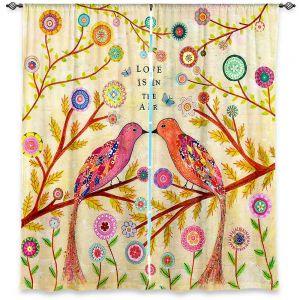 Decorative Window Treatments | Sascalia Love Birds