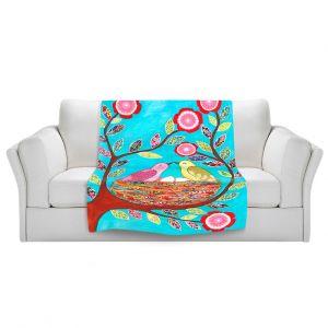 Artistic Sherpa Pile Blankets | Sascalia Love Nest