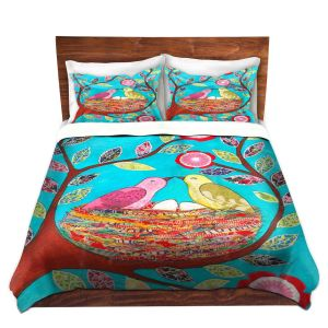 Artistic Duvet Covers and Shams Bedding | Sascalia - Love Nest