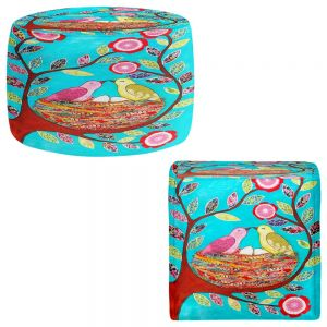 Round and Square Ottoman Foot Stools   Sascalia - Love Nest