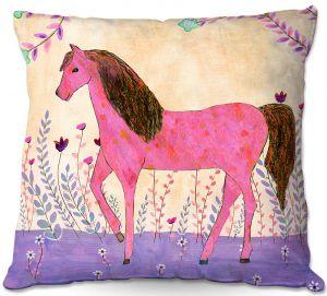 Throw Pillows Decorative Artistic | Sascalia - Meadow Horse | Horse Animals
