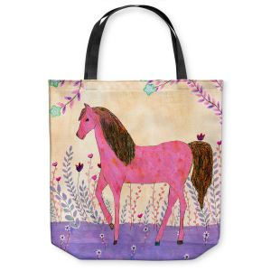 Unique Shoulder Bag Tote Bags | Sascalia - Meadow Horse | Horse Animals