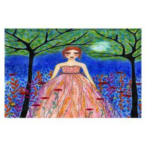 Decorative Floor Covering Mats   Sascalia - Moonlit Night   Portrait gown dress figure woman