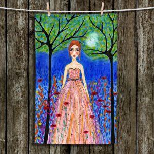 Unique Bathroom Towels | Sascalia - Moonlit Night | Portrait gown dress figure woman