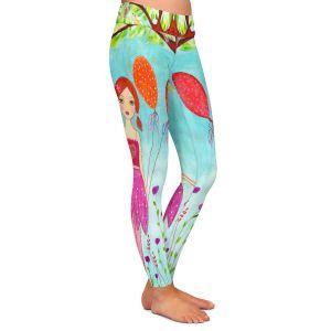 Casual Comfortable Leggings | Sascalia - Oh Happy Day | Portrait girl figure balloon tree