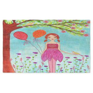 Artistic Pashmina Scarf | Sascalia - Oh Happy Day | Portrait girl figure balloon tree