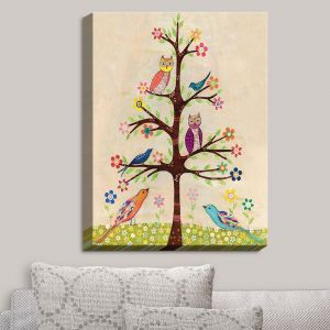 Decorative Canvas Wall Art | Sascalia - Owl Bird Tree II