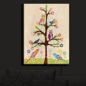 Unique Illuminated Wall Art 11 x 9 from DiaNoche Designs by Sascalia - Owl Bird Tree II