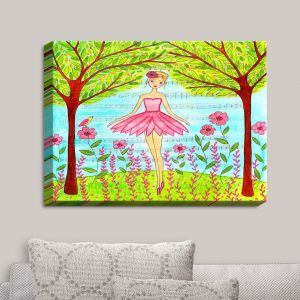 Decorative Canvas Wall Art | Sascalia - Pink Ballerina