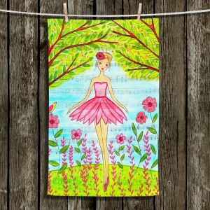 Unique Hanging Tea Towels | Sascalia - Pink Ballerina | Ballerina Girls Trees